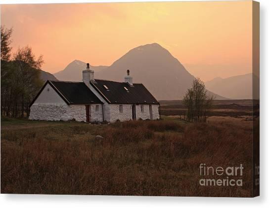 Black Rock Cottage Sunset Canvas Print