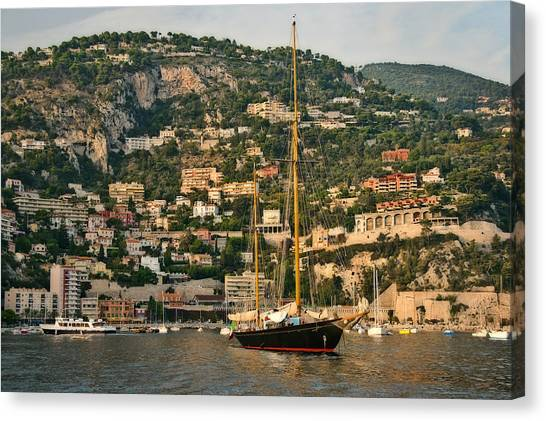 Black Sailboat Canvas Print