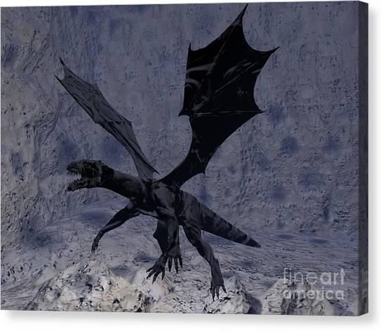 Black Vengeance Canvas Print by Tea Aira