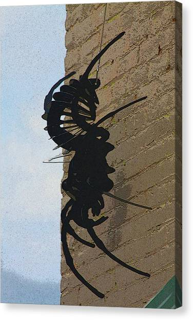 Black Widow Canvas Print - Black Widow Spider Art by Karon Melillo DeVega