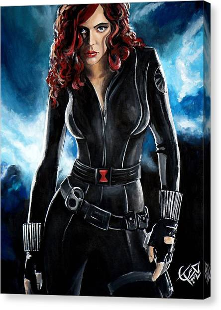 Black Widow Canvas Print - Black Widow by Tom Carlton