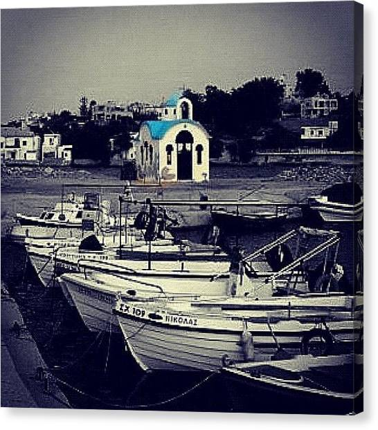 Greece Canvas Print - #blackandwhite #webstagram #igdaily #ig by Sharyn Omalley