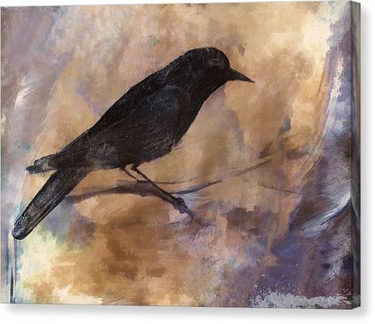 Blackbirds Canvas Print - Blackbird by Carol Leigh