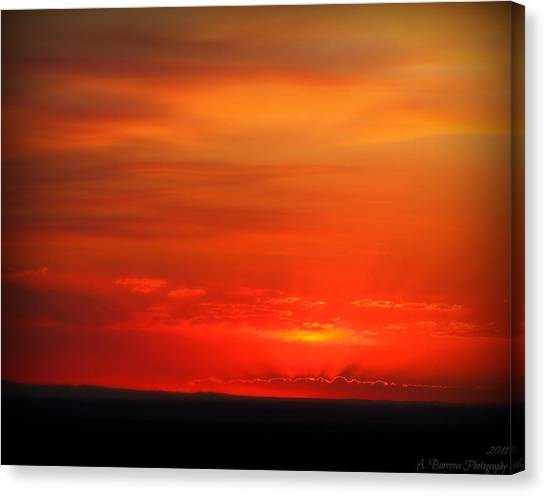 Blacks And Reds Canvas Print by Aaron Burrows