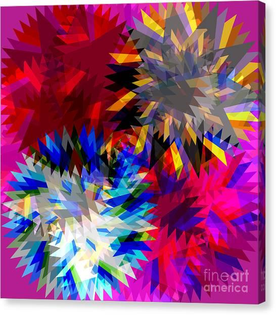 Transmission Canvas Print - Blade In Pink by Atiketta Sangasaeng