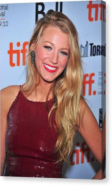 Toronto International Film Festival Tiff Canvas Print - Blake Lively At Arrivals For The Town by Everett