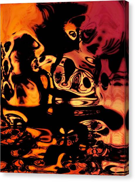 Blasphemy Swirls Canvas Print
