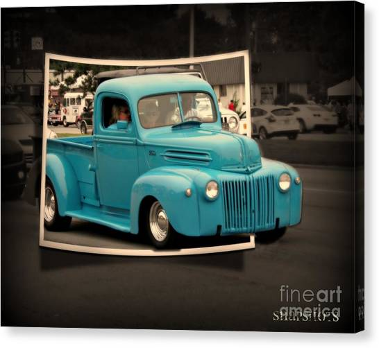 Blast From The Past Canvas Print by Emily Kelley