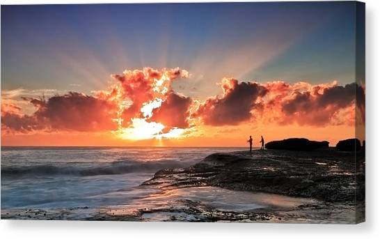 Blessed Fishermen Canvas Print