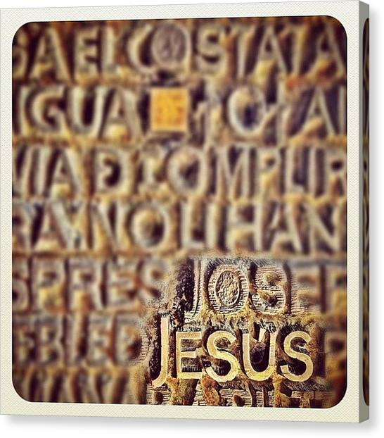 God Canvas Print - Blessed Sunday! It's All About #jesus by Wilson Aw