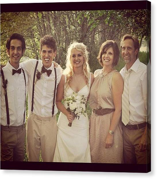 Groom Canvas Print - Blessed Wedding by Lisa Boylan