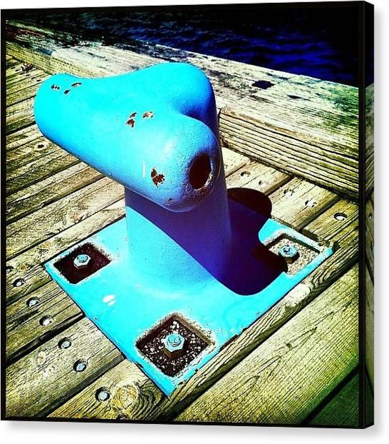 Marinas Canvas Print - #bleu #blue #quebec #quebeccity by Nicolas Marois