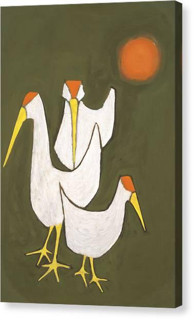 Blind Birds Canvas Print