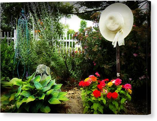 Blissful Garden Canvas Print by Trudy Wilkerson