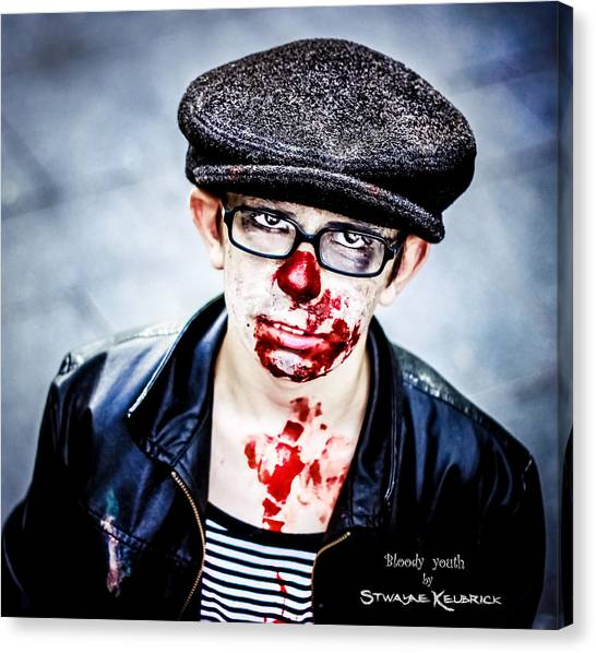 Canvas Print featuring the photograph Bloody Youth by Stwayne Keubrick