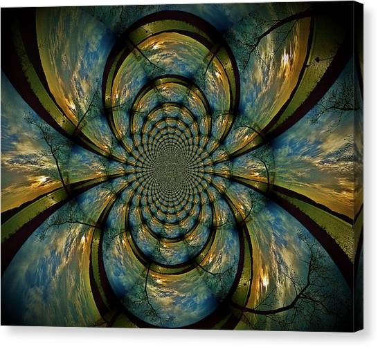 Blue And Gold  Canvas Print by Becky Foster