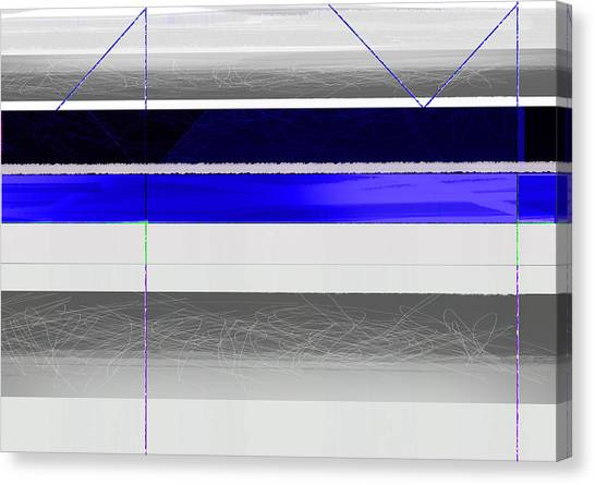 Tasteful Canvas Print - Blue And White Stripes by Naxart Studio