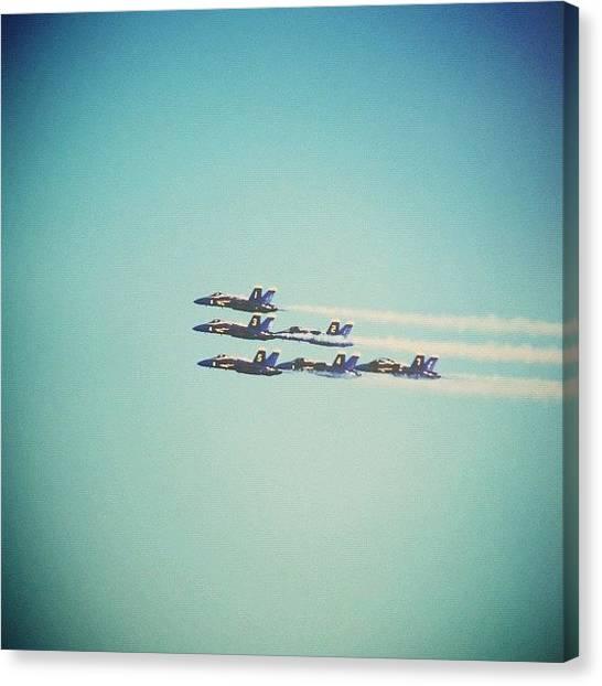 Jets Canvas Print - Blue Angels Taking Over by Karen Winokan