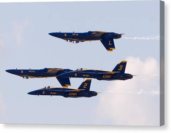Blue Angels Canvas Print by Zannie B