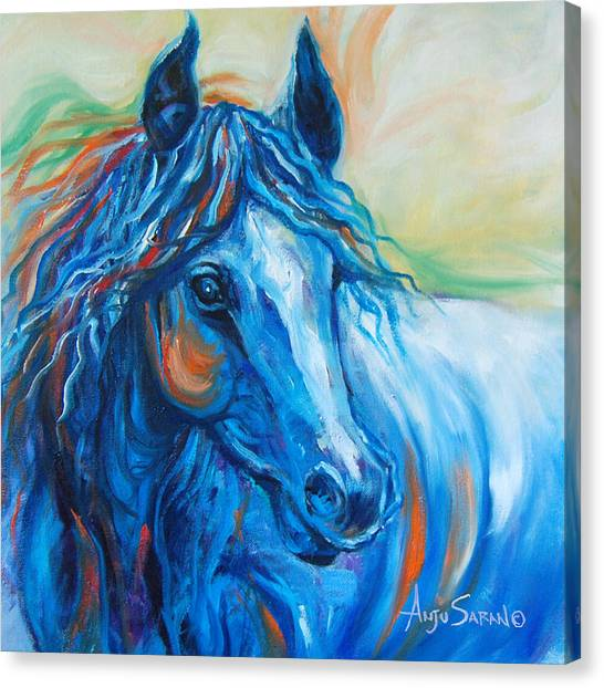 Blue Beauty Canvas Print by Anju Saran