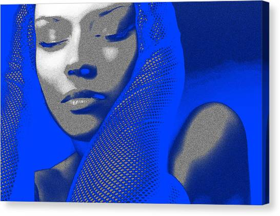 Gloves Canvas Print - Blue Beauty by Naxart Studio