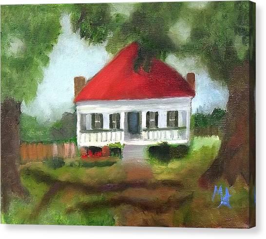 Blue Berry Farm In Clinton Canvas Print
