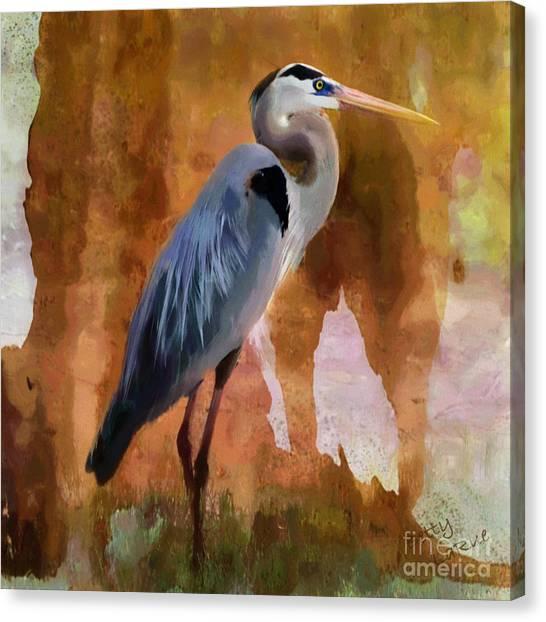 Texas Canvas Print - Blue by Betty LaRue