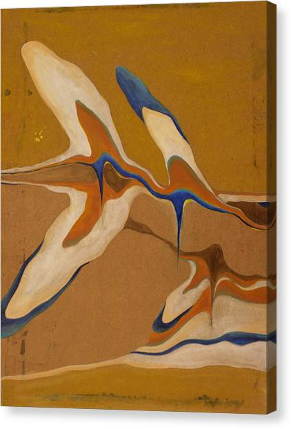 Blue Birds Canvas Print by Devin Roberts