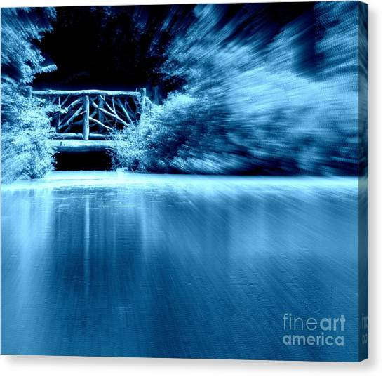 Blue Bridge Canvas Print by Maria Scarfone