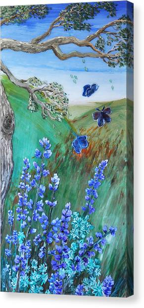 Blue Butterflies Canvas Print