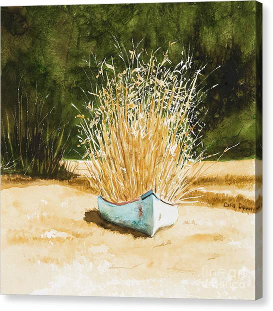 Blue Canoe Canvas Print by Carla Dabney