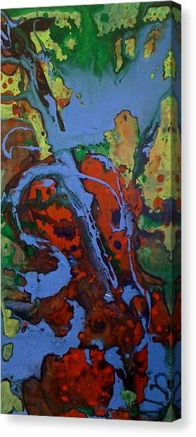 Blue Cello Canvas Print