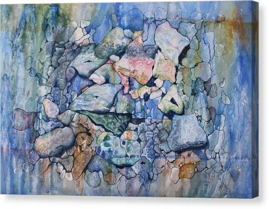 Blue Creek Stones Canvas Print