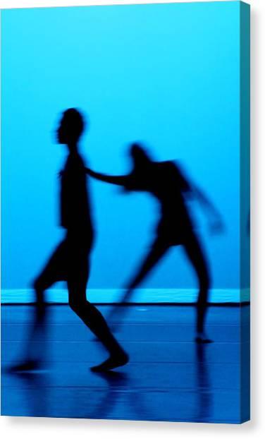 Blue Dancers Canvas Print by Kenneth Mucke