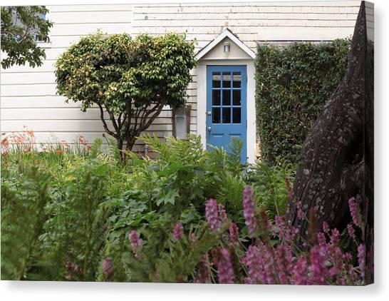 Blue Door Canvas Print by Denice Breaux