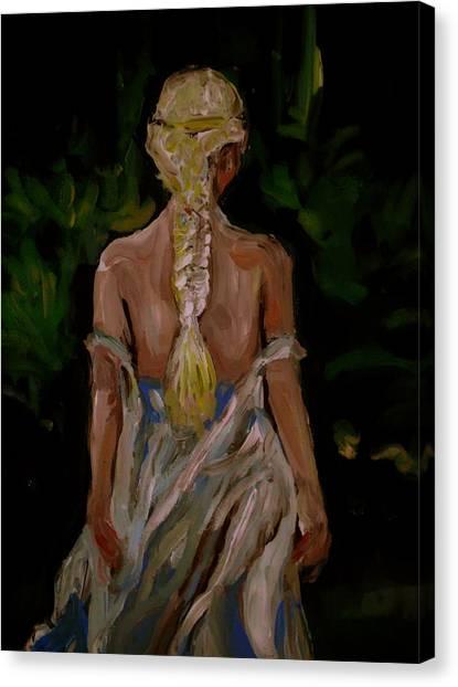 Canvas Print - Blue Dress by Adam Kissel
