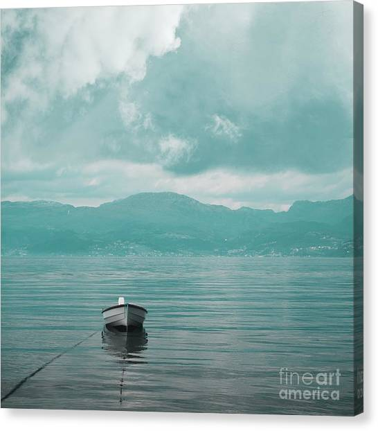 Blue Fjord Canvas Print