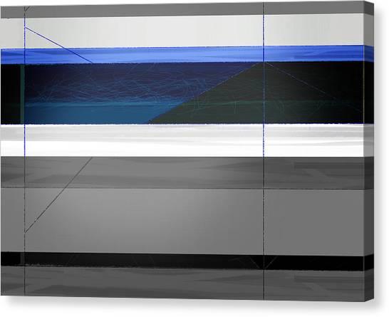 Tasteful Canvas Print - Blue Flag by Naxart Studio