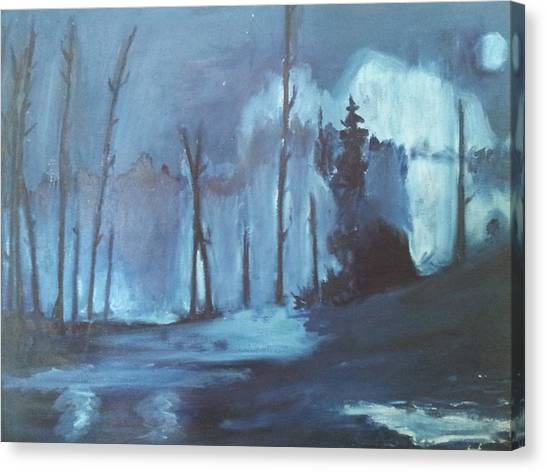 Blue Forest Canvas Print by Joseph Giler