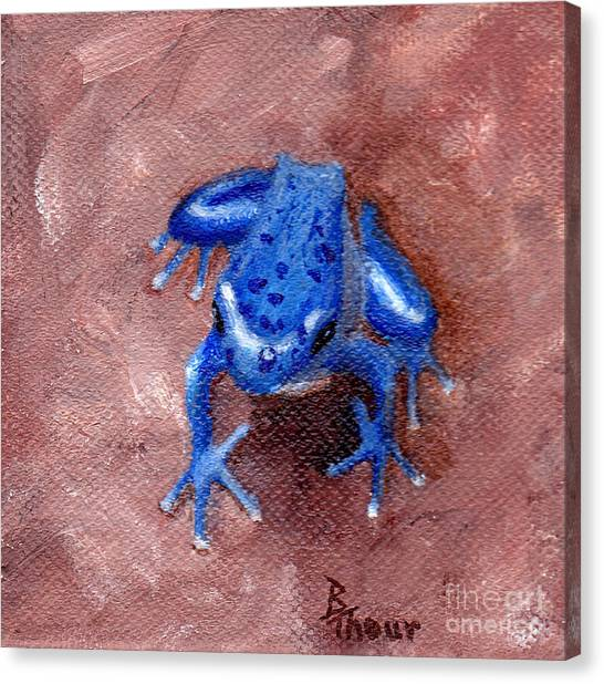 Blue Froggy Canvas Print