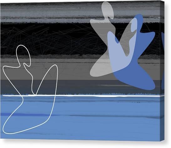 Tasteful Canvas Print - Blue Girls by Naxart Studio