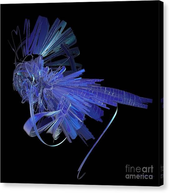 Blue Glass Hopper Canvas Print
