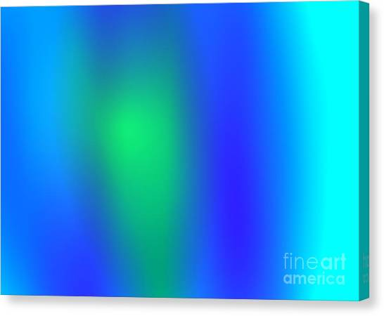 Blue Green Abstract Canvas Print