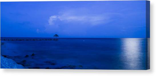 Blue Canvas Print by Guillermo Luengas