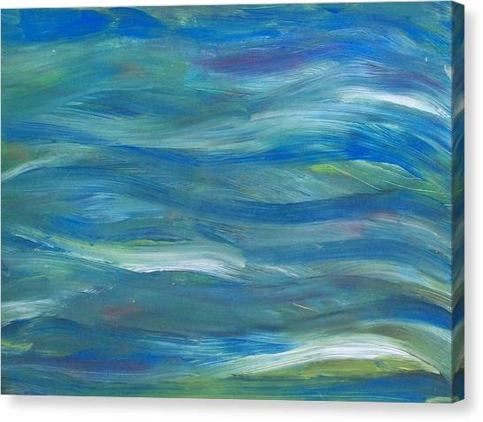 Blue Harmony Canvas Print by Jeanette Stewart