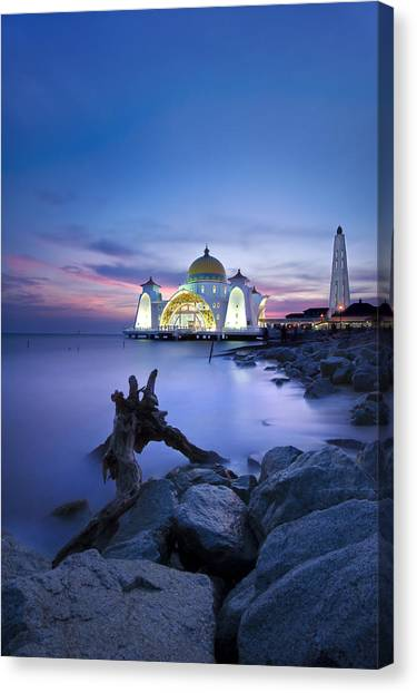 Blue Hour At The Mosque Canvas Print