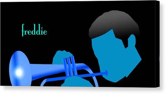 Blue Hub Canvas Print by Victor Bailey