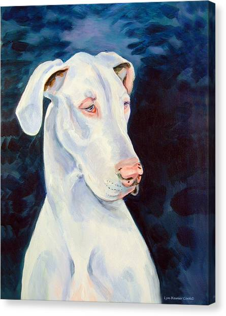 Great Danes Canvas Print - Blue Ice Great Dane by Lyn Cook