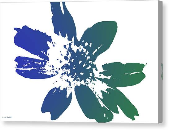 Blue In Bloom Canvas Print