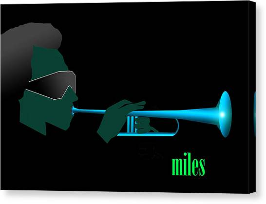 Blue In Green Canvas Print by Victor Bailey